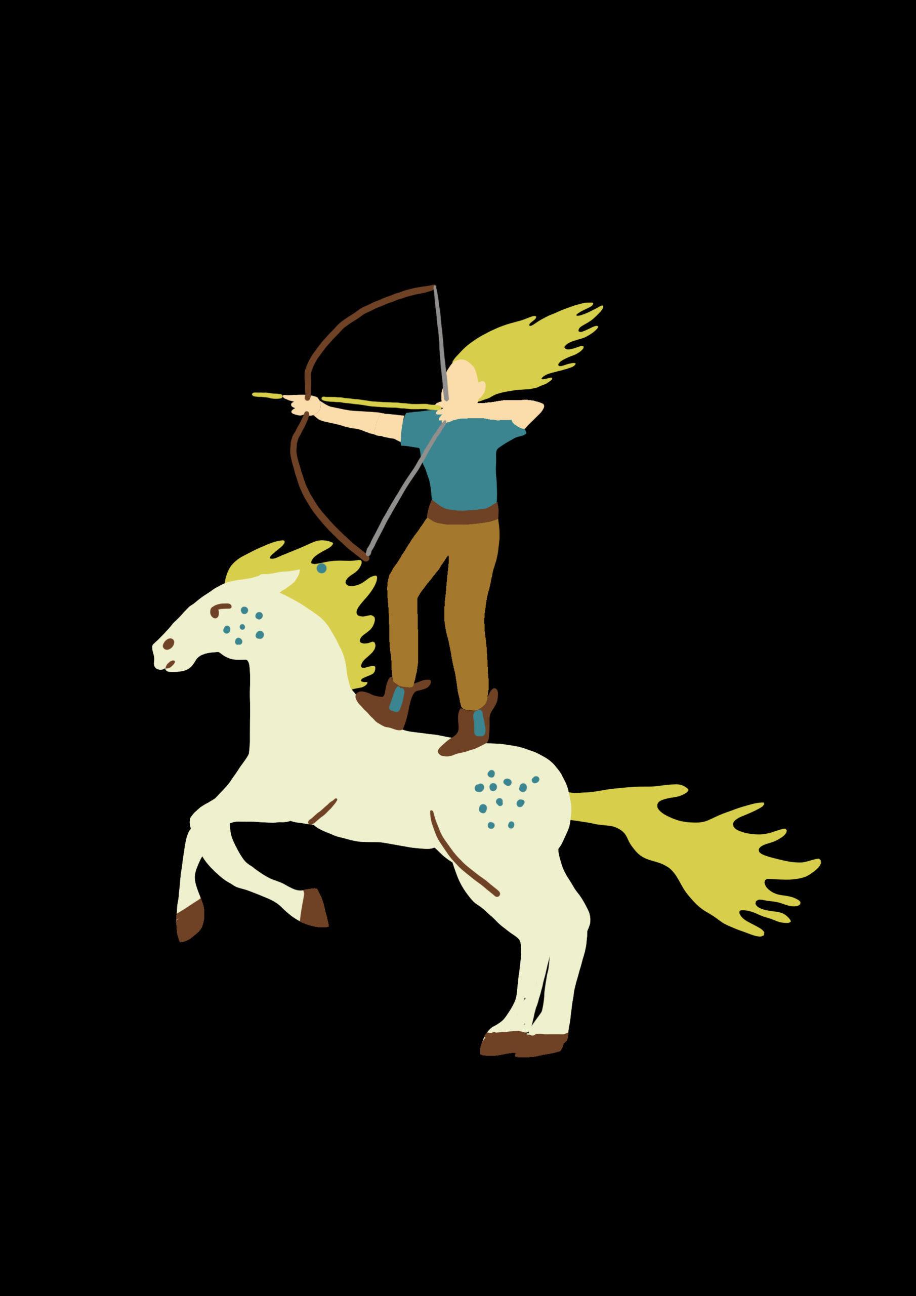 Amélie à cheval