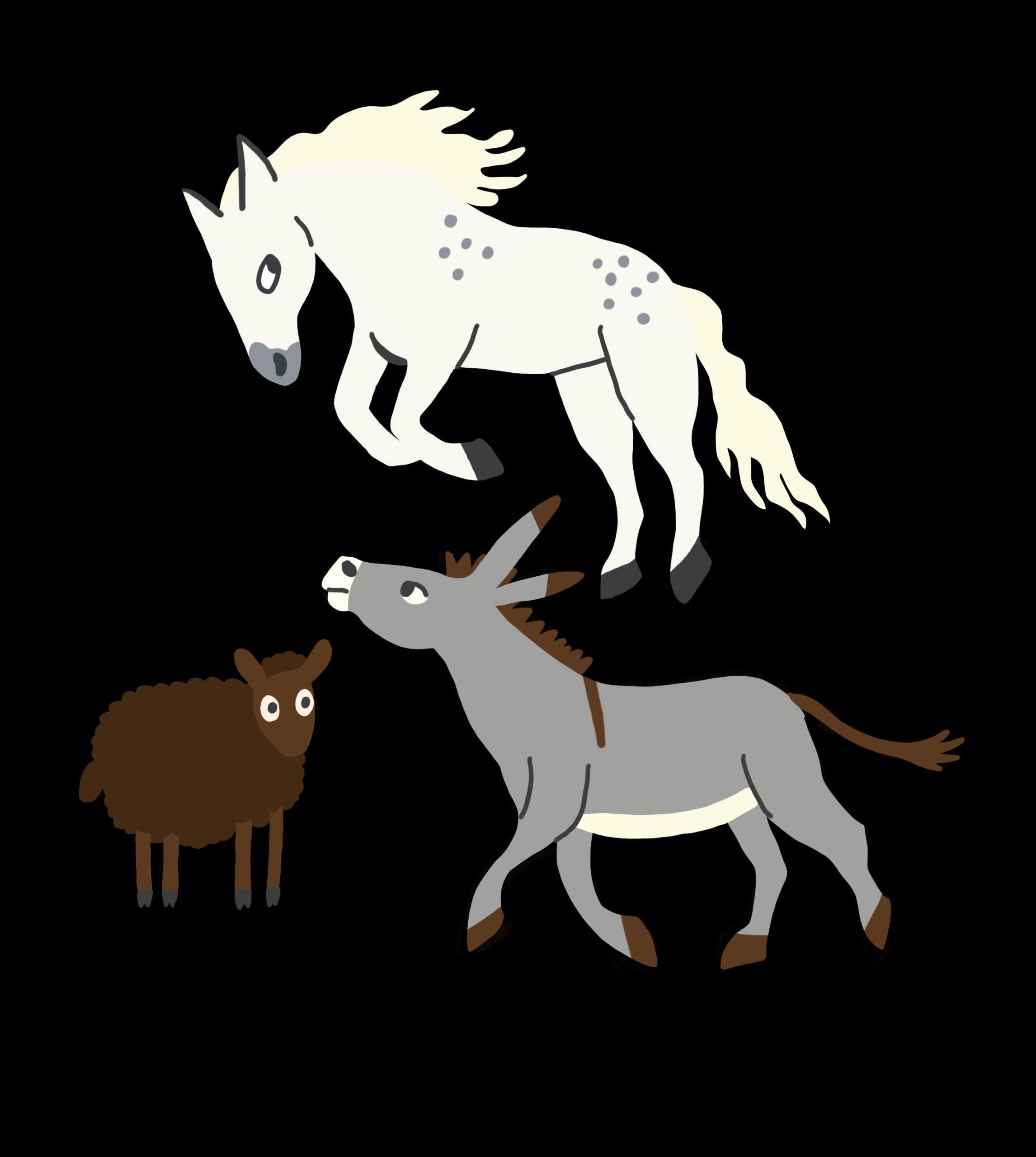Illustration chevaux