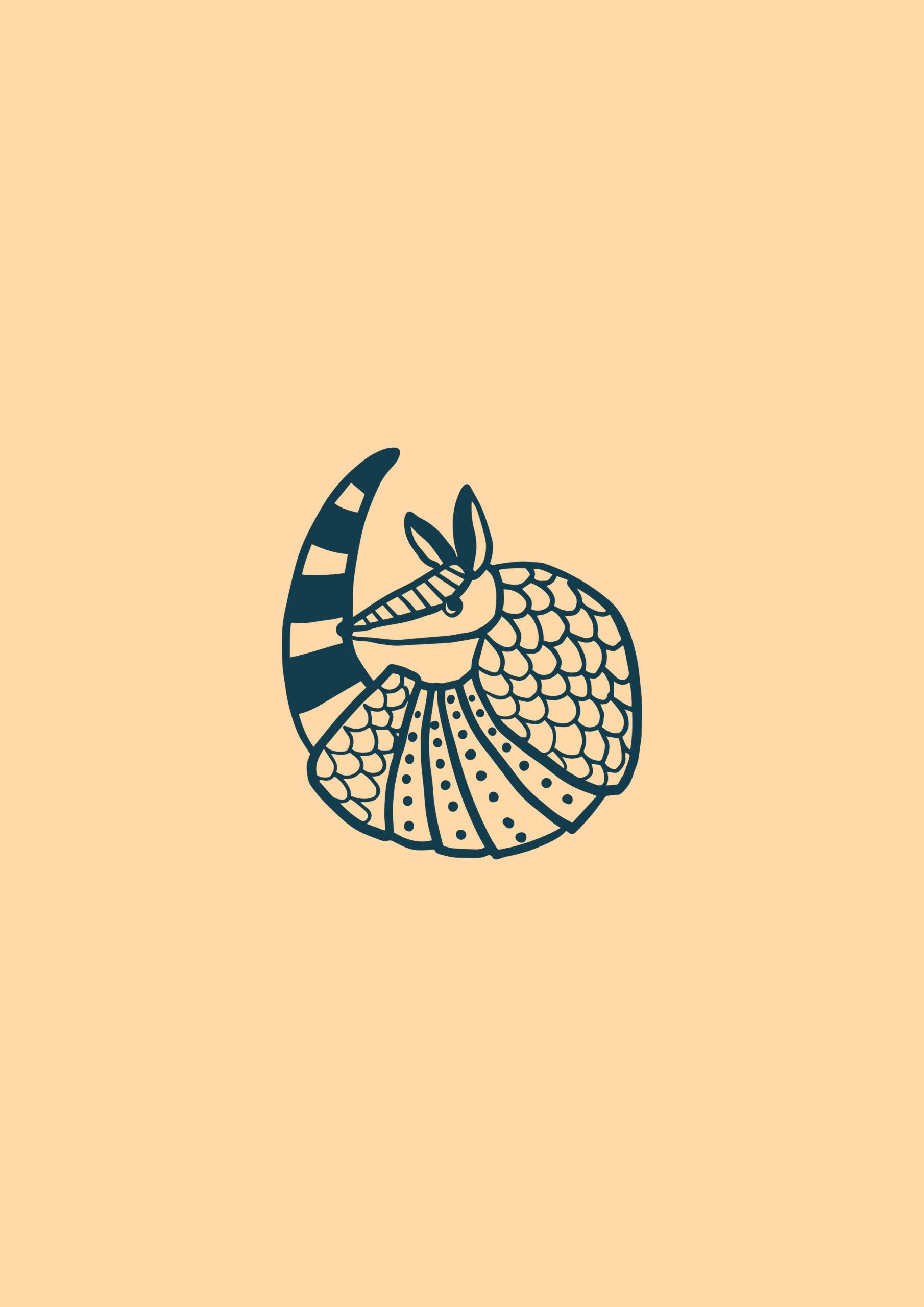 Illustration Broderies du Tatou logo